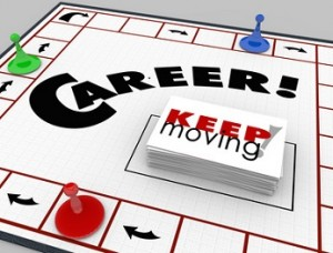 Career Board Game Keep Moving Advancing Promotion